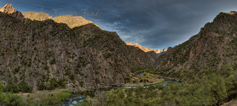 An October sunset in the Black Canyon of the Gunnison.