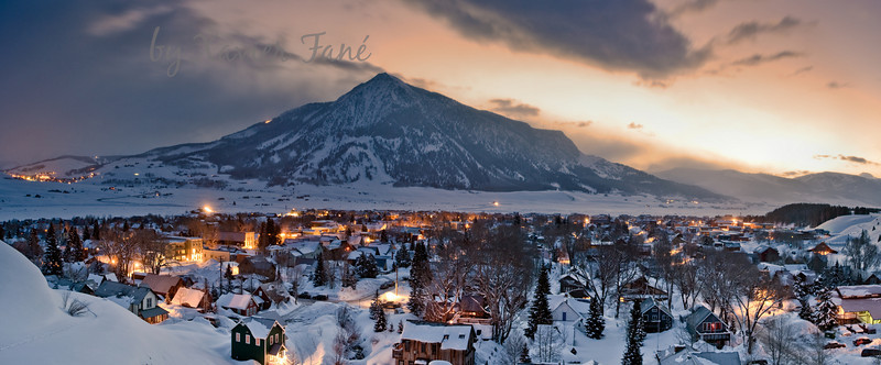 Winter dawn in Crested Butte.