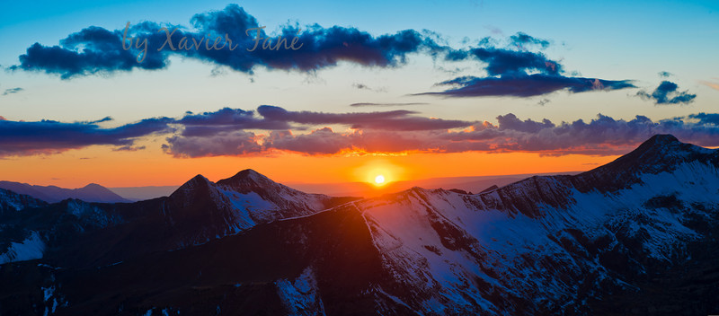 Sunset from the summit of Baldy Mountain. October 12th.