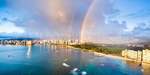 Double Rainbow in Waikiki