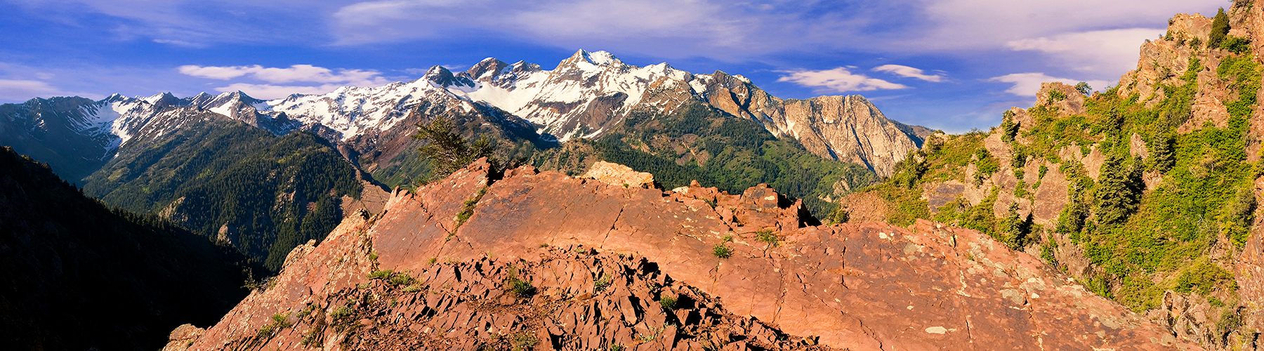 pan25: The Wasatch Mountains in early summer, as seen from one of our favorite hiking destinations in Big Cottonwood Canyon
