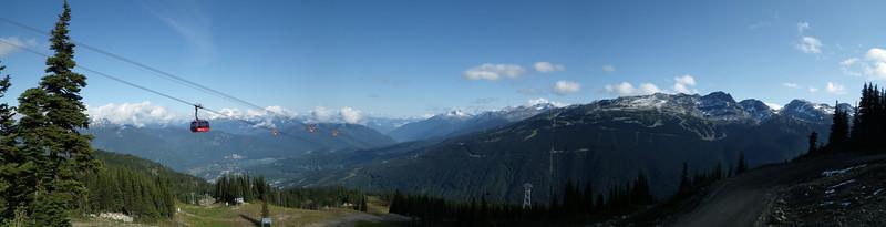 Whistler Blackcomb Peak to Peak Gondola panorama.