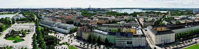 Panorama from the Helsinki Olympic Stadium to the south │ 7.6.2009