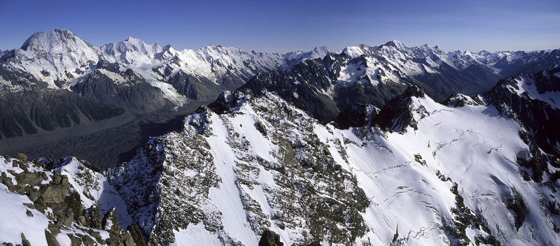 Looking north from the summit of The Nuns Veil, Mt Cook National Park