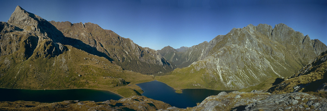 Lakes Ione and Eva, Gorge Burn, Fiordland