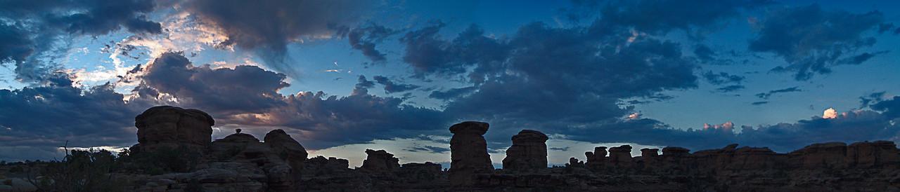 2005-Needles3  Sunrise on the Needles District, Canyonlands National Park, Utah