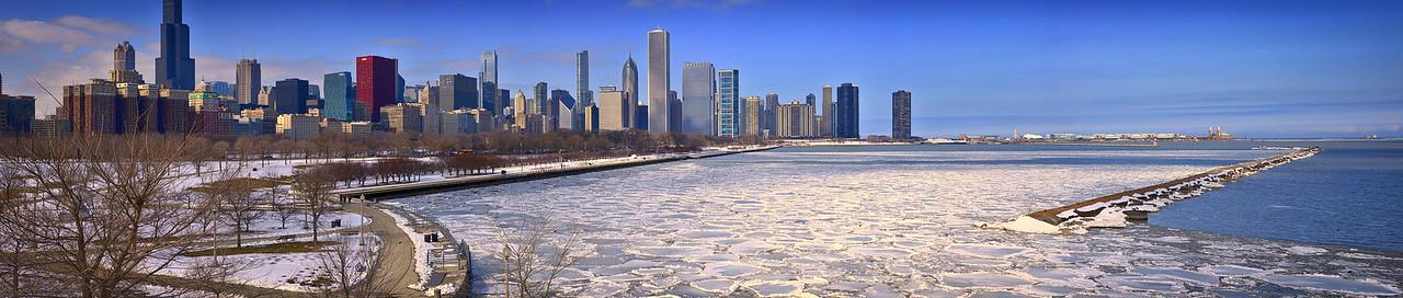 Chicago Skyline view from Shedd Aquarium