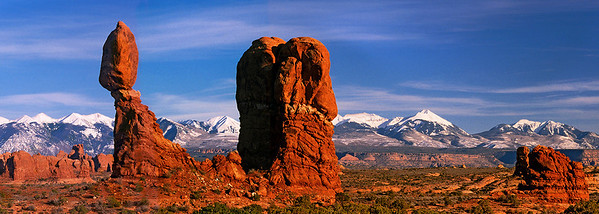 pan01: Balanced Rock in Arches National Park