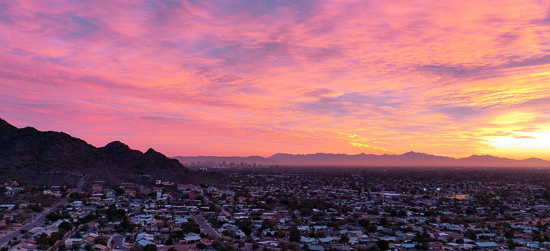 Phoenix, Arizona Aerial Panorama