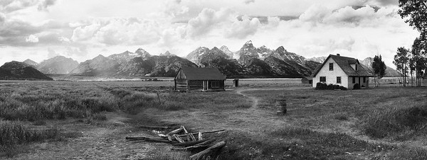 Pink House - Mormons Row, Grand Teton National Park