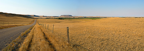 Crown Butte - Located in Cascade County looks south towards the hidden town of Simms with the Butte in the background