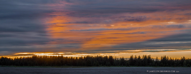 Midnight sunset at Gustavus - Alaska
