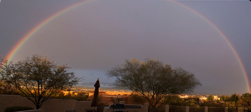 Rainbow over Tucson, AZ