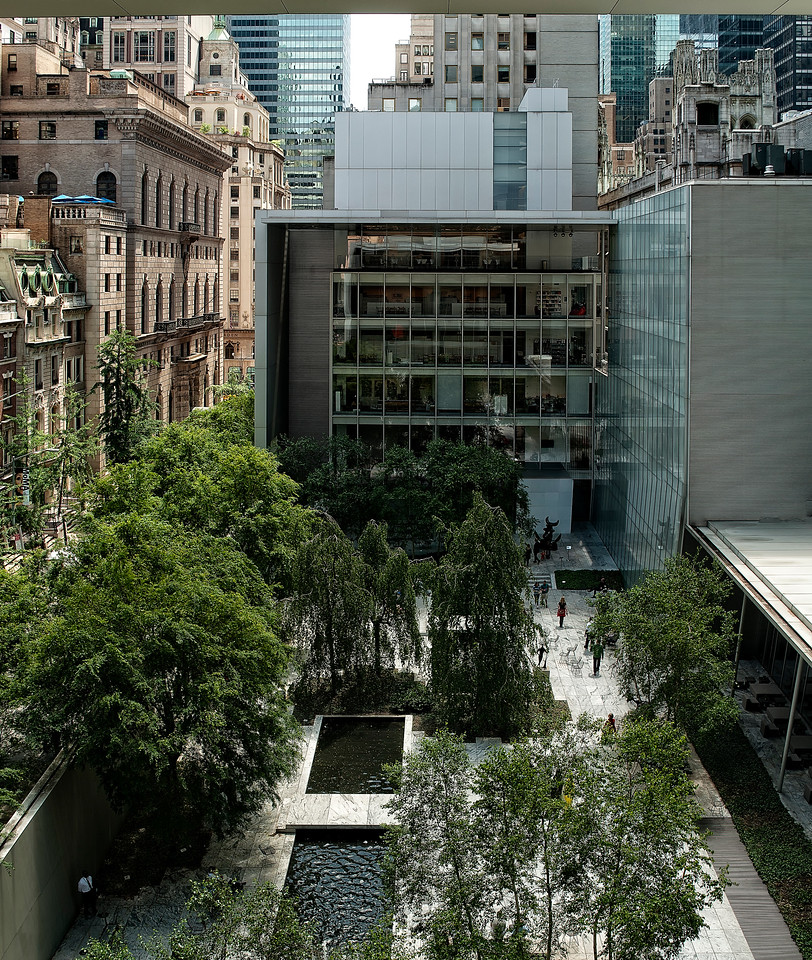 New York - MOMA Cafe View - Vert Pano
