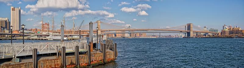 Brooklyn & Manhattan Bridges Pano NYC