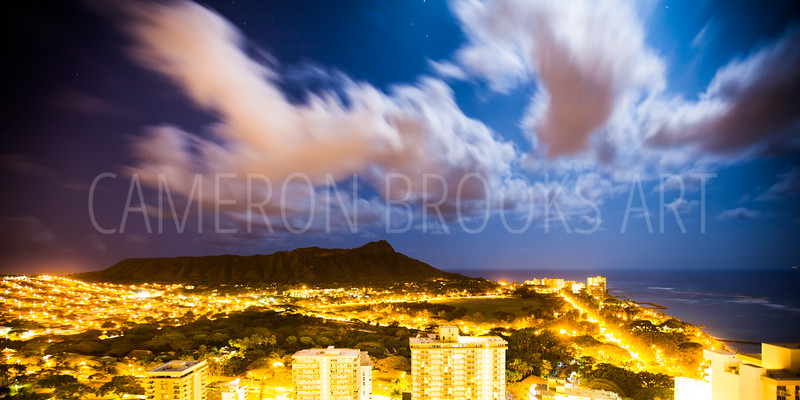 Diamond Head ~ Full Moon Night