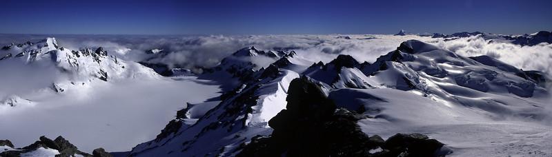 Panorama from Climax Peak, Olivine Ice Plateau