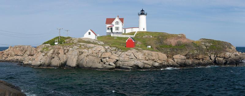 Nubble Light (or Cape Neddick Light) in York Beach, Maine.