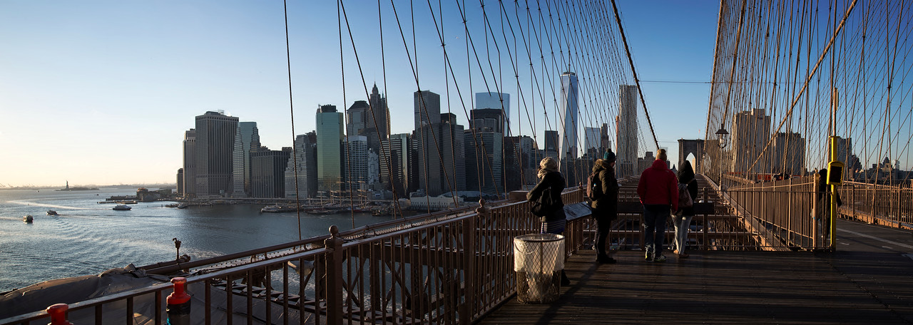 Manhattan NYC from the Brooklyn Bridge