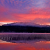 """Parks Pond Sunrise"".. Image taken in Clifton, Maine. Actual size @300DPI is 32""x9""."
