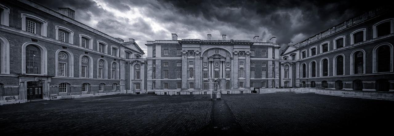 Location Greenwich University Navel College B & W