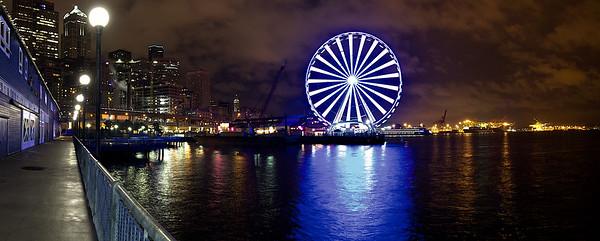 The Great Wheel, Seattle. Panorama