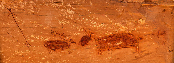pictograph panel in Horseshoe Canyon, Canyonlands National Park.