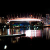 dsc01489pano Vancouver False Creek at night panorama with a view to the lights of Grouse Mountain.