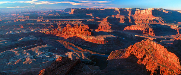 pan38:  Early light at Dead Horse Point, southern Utah