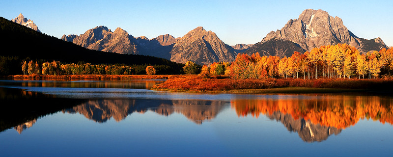 autumn morning at Oxbow Bend, Grand Tetons National Park
