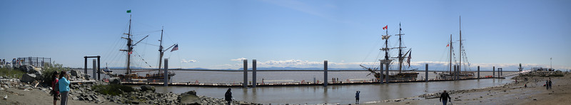 Tall ships panorama.