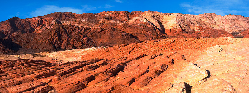 Multi-hued sandstone at Snow Canyon State Park, southern Utah