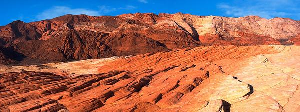 pan20: Multi-hued sandstone at Snow Canyon State Park, southern Utah