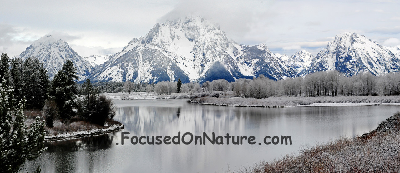 Oxbow Bend Snowfall, Grand Teton National Park