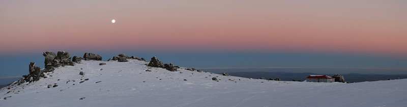 Moon-rise over Big Hut, Rock and Pillar Range
