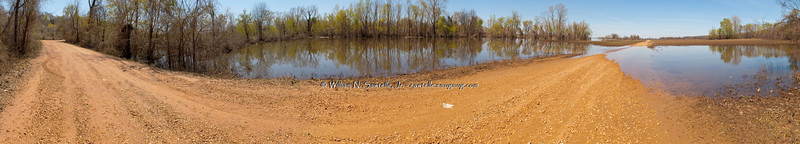 Ballard Slough Road<br /> Randolph, Tipton County, Tennessee<br /> 180+ Degree Pano<br /> Mississippi River near flood stage and falling