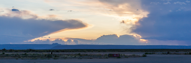 Blanding Utah Airport At sunset