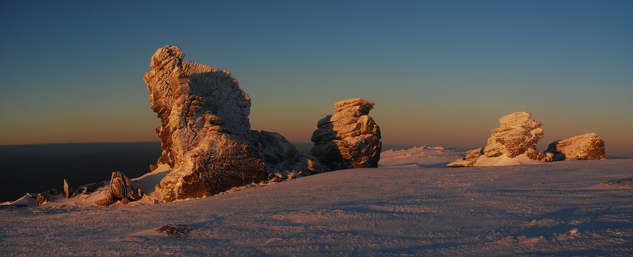 Rock and Pillar Summit Rocks at sunrise