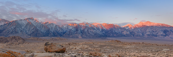 Sunrise Mount Whitney, Alabama Hills