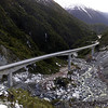 The Otira Viaduct in Arthurs Pass, New Zealand. Watch out for the Keas! Those native parrots will tear your car apart in minutes - seriously! They will remove window rubber, rip off aerials, pull off wheel trims, destroy windscreen wipers etc. Pretty and easy to approach, but they like nothing more than a mouthful of Honda.