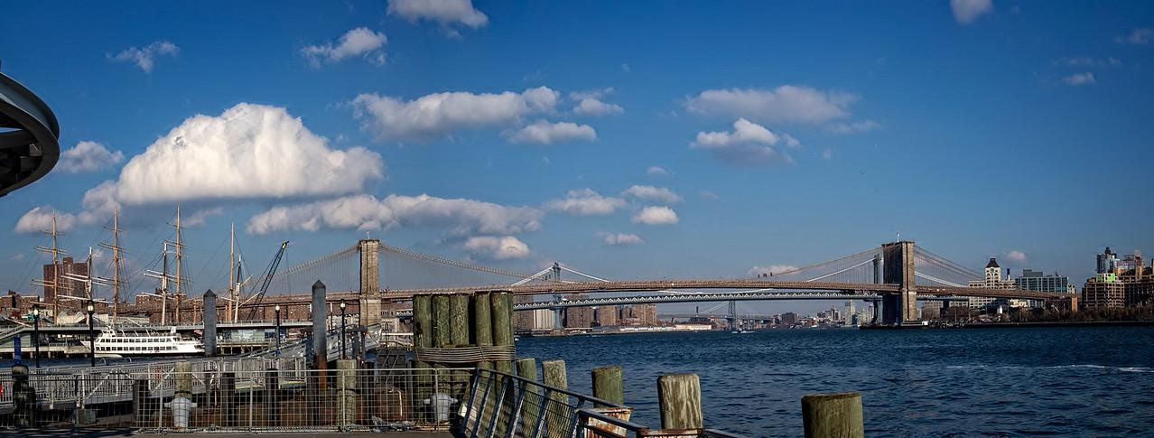 NYC Brooklyn & Manhattan Bridges Pano