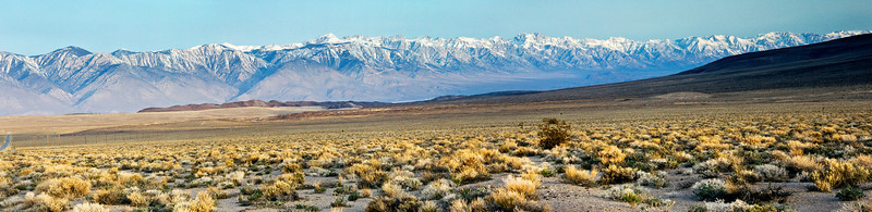 Early Morning View of the Eastern Sierra, Panorama