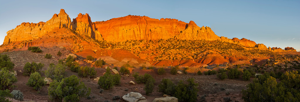 First light on the Circle Cliffs, Grand Staircase-Escalante National Monument, by Phyllis