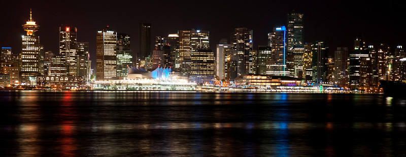 Vancouver panorama at night.