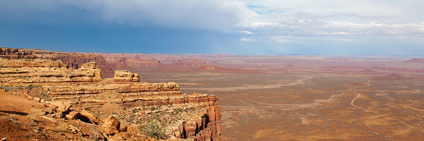 Overlooking Valley Of The Gods From Moki Dugway Pass