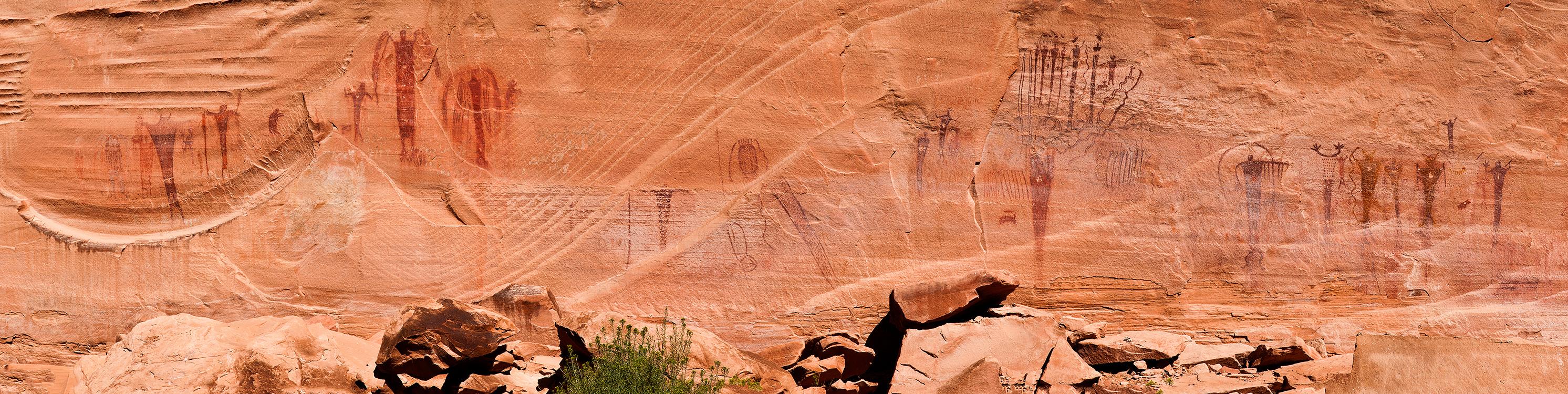 pan37:  The Buckhorn Wash pictograph panel; San Rafael Swell, central Utah