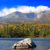 """Katahdin"" Mt. Katahdin, Baxter State Park, Maine. Sandy Stream Pond sits in the foreground of Maine's most beautiful mountain. A popular spot for viewing moose."