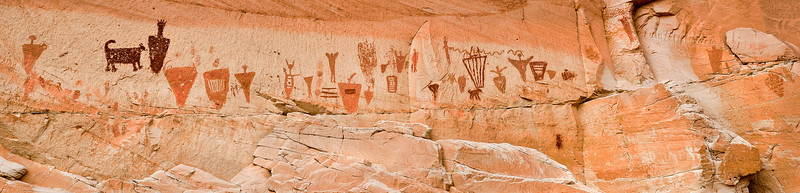 pictograph panel in Horsehoe Canyon, Canyonlands National Park.