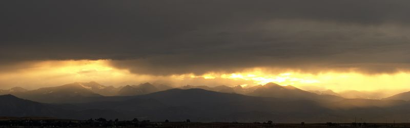 Colorado Front Range sunset