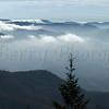 Blue Ridge Parkway under cloud bank